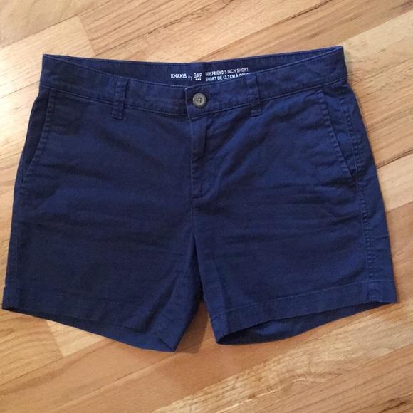 GAP Pants - GAP Girlfriend Navy Blue Khaki Shorts Womens Size2